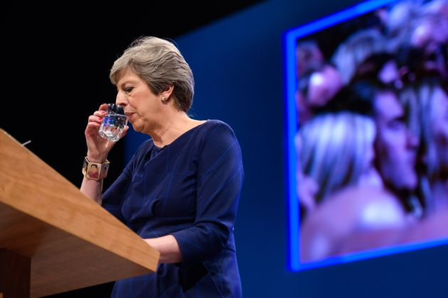 Theresa May struggles through her conference