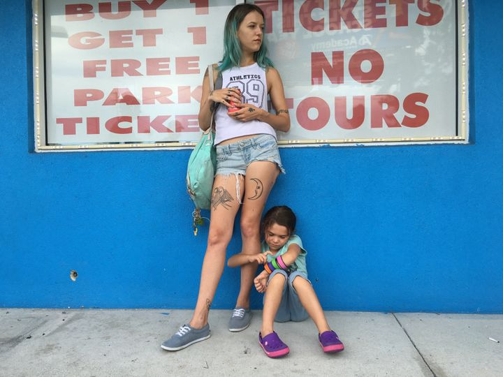 "Bria Vinaite and Brooklynn Prince star in ""The Florida Project."""