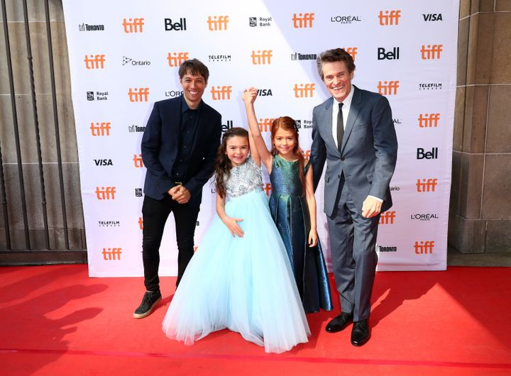 "Sean Baker, Brooklynn Prince, Valeria Cotto and Willem Dafoe attend the ""Florida Project"" premiere at the Toronto Film Festiv"