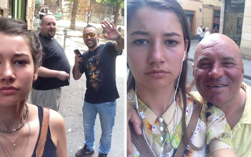 Woman Takes Selfies With The Men Who Have Just Catcalled