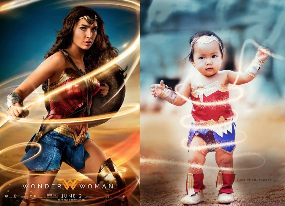 Mary Grace Pingoy is such a bignWonder Woman fan that she's already passing down her love for the superhero to her baby daughter.
