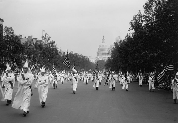 <strong>Ku Klux Klan parade in Washington D.C. in 1926.</strong>