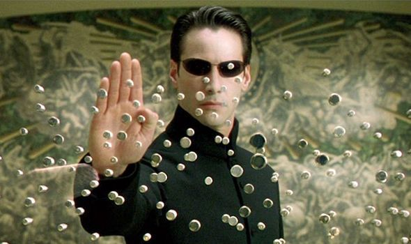 Neo stopping bullets; The Matrix