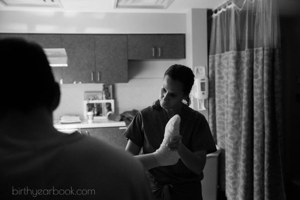 """""""This is from a very long birth, and the midwife had had an especially busy day. Even though it was after3 a.m. when th"""