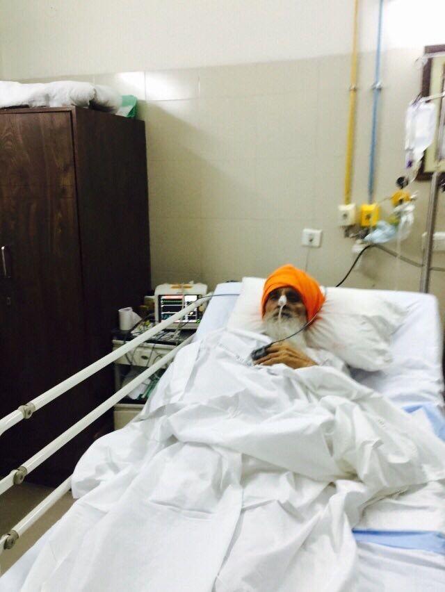 Bapu Surat Singh at DMC Hospital in Ludhiana