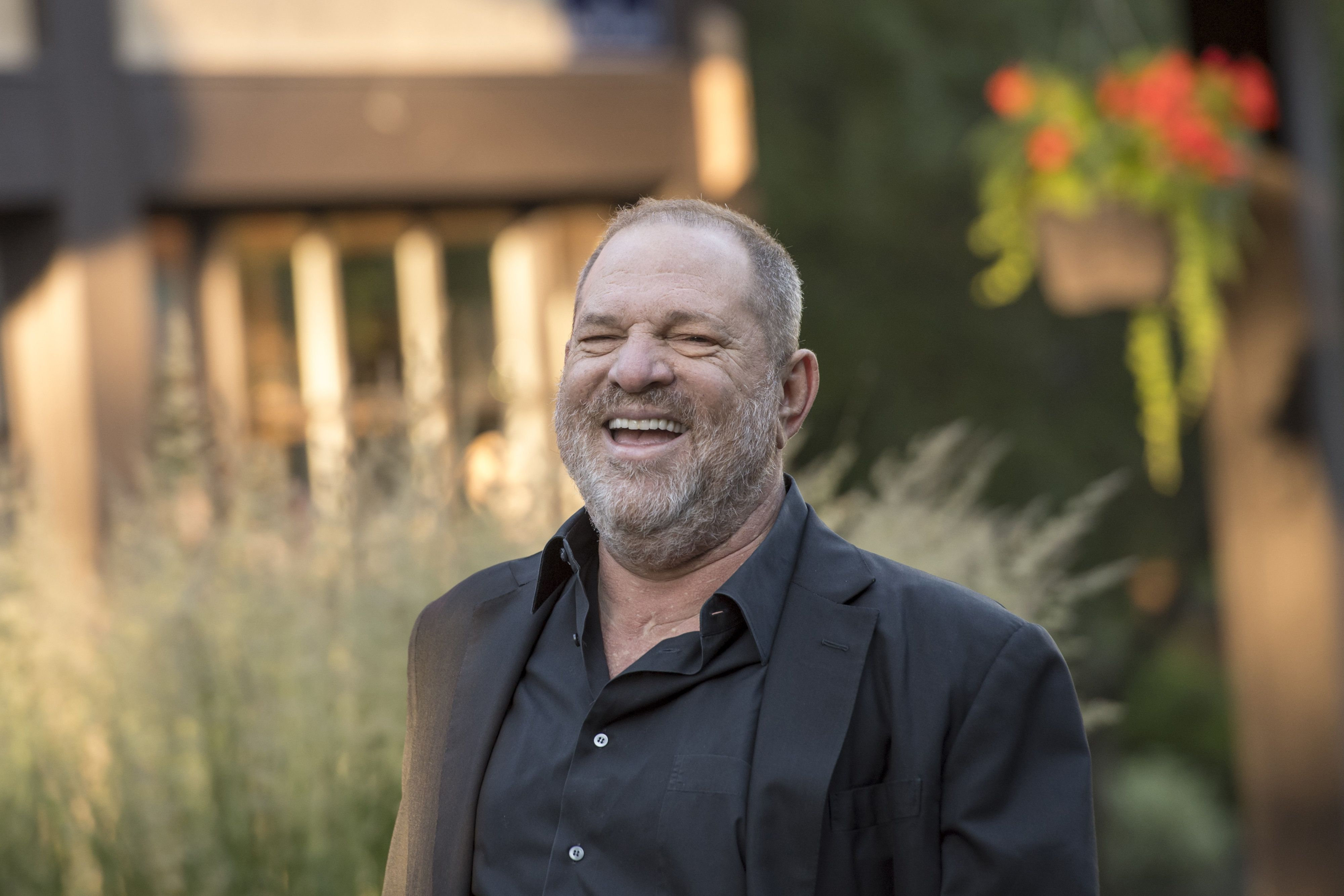 Harvey Weinstein, co-chairman and founder of Weinstein Co., arrives for a morning session during the Allen & Co. Media and Technology conference in Sun Valley, Idaho, U.S., on Wednesday, July 12, 2017. The 34th annual Allen & Co. conference gathers many of America's wealthiest and most powerful people in media, technology, and sports. Photographer: David Paul Morris/Bloomberg via Getty Images