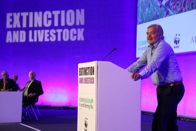 Karl Falkenberg speaking at Compassion in World Farming's Extinction and Livestock