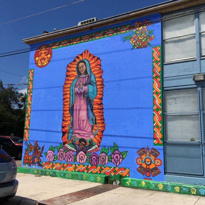 Another vibrant and beautiful Westside mural.