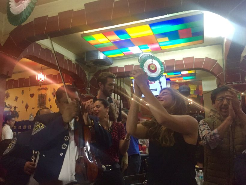 Tourists and locals dance to late night mariachi at Plaza Garibaldi in Mexico City.
