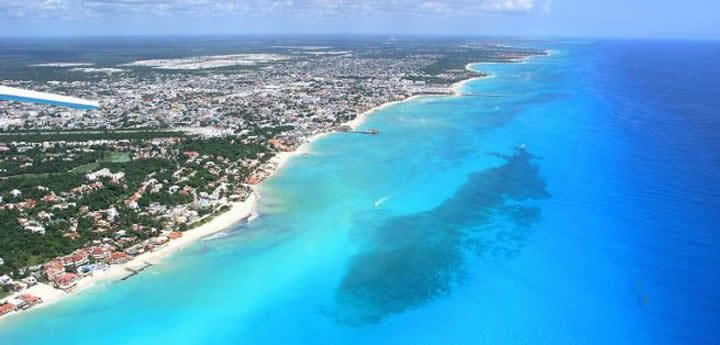 Playa del Carmen from above. My home for the past 3 years I am happily saying ADIOS to!