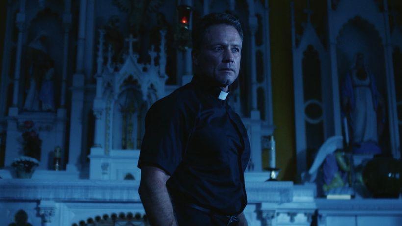 <strong>Rick Ravanello as believer Father Cutler</strong>
