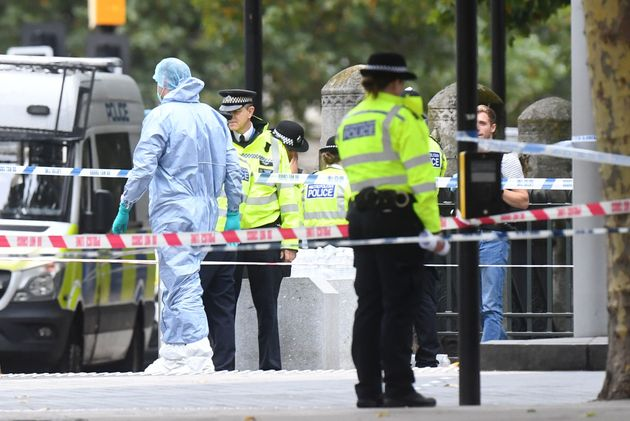 Police are appealing for information after a car crashed into pedestrians outside London's Natural History...