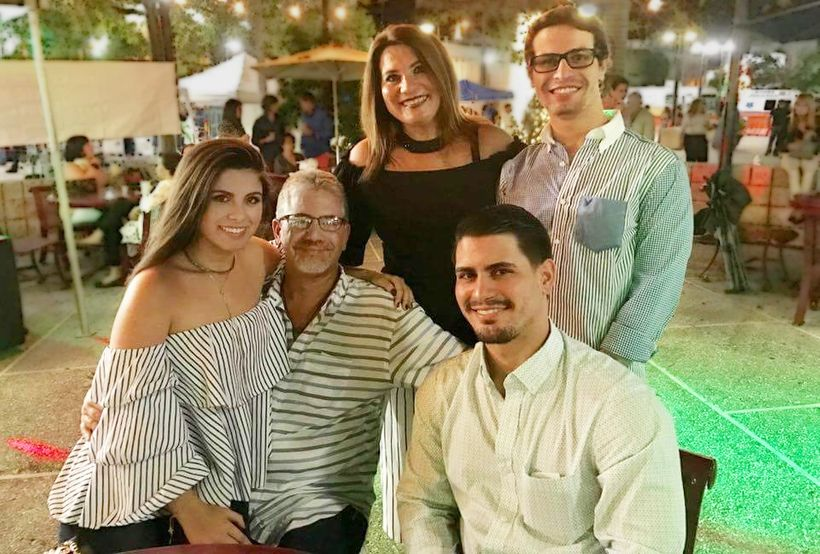 Before Maria: The Pereira family. L to R: Sarah Gabriella Pereira, father Dr. Rafael Pereira, mother Sarah, brothers Rafael a