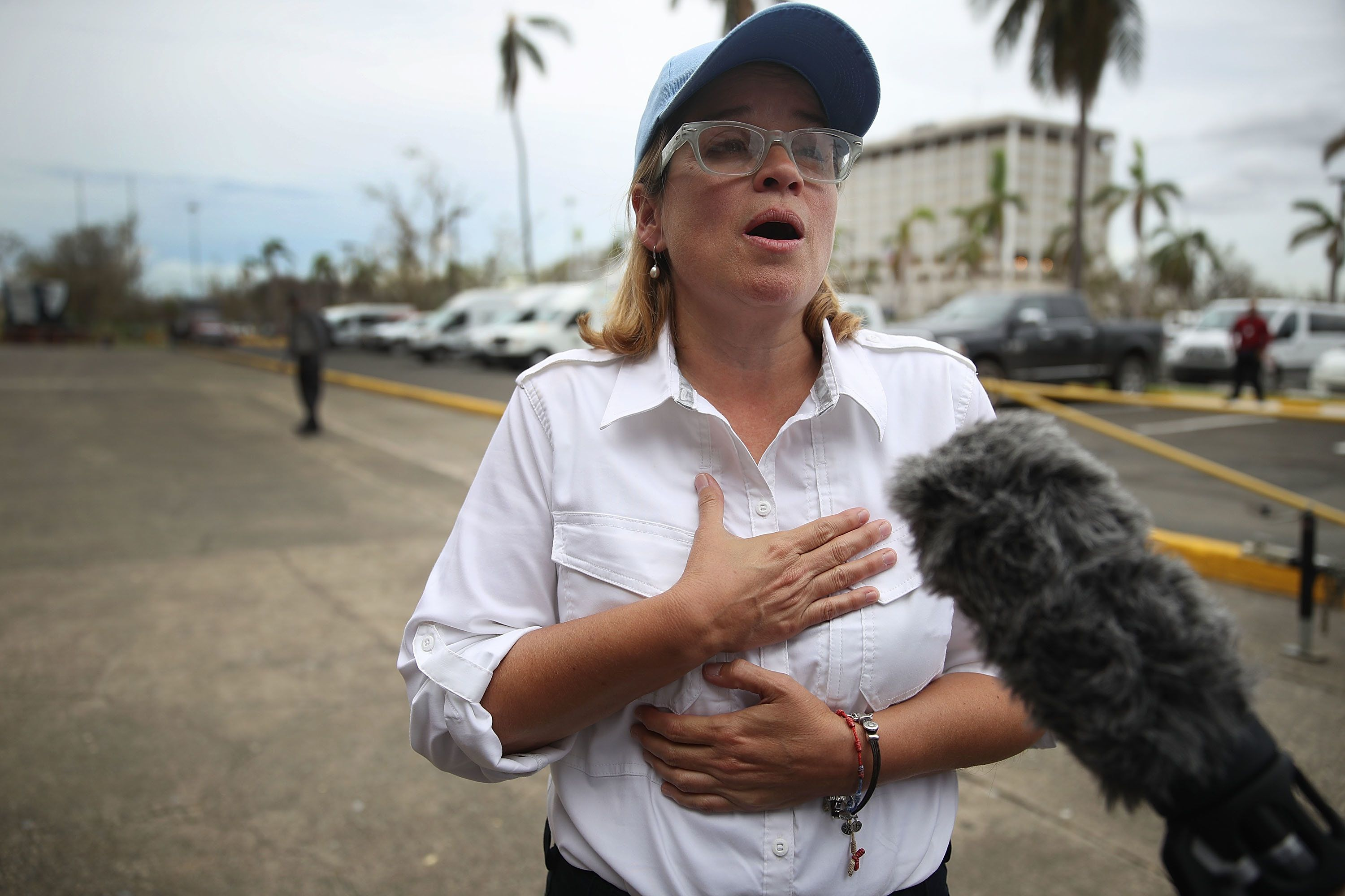 San Juan Mayor Carmen Yulín Cruz has been an outspoken critic of the federal government's response to the hurrica