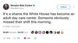 Bob Corker Brands Donald Trump's White House An 'Adult Day Care