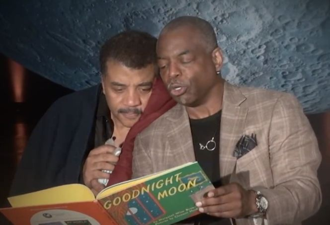 LeVar Burton reads Goodnight Moon to Neil DeGrasse Tyson