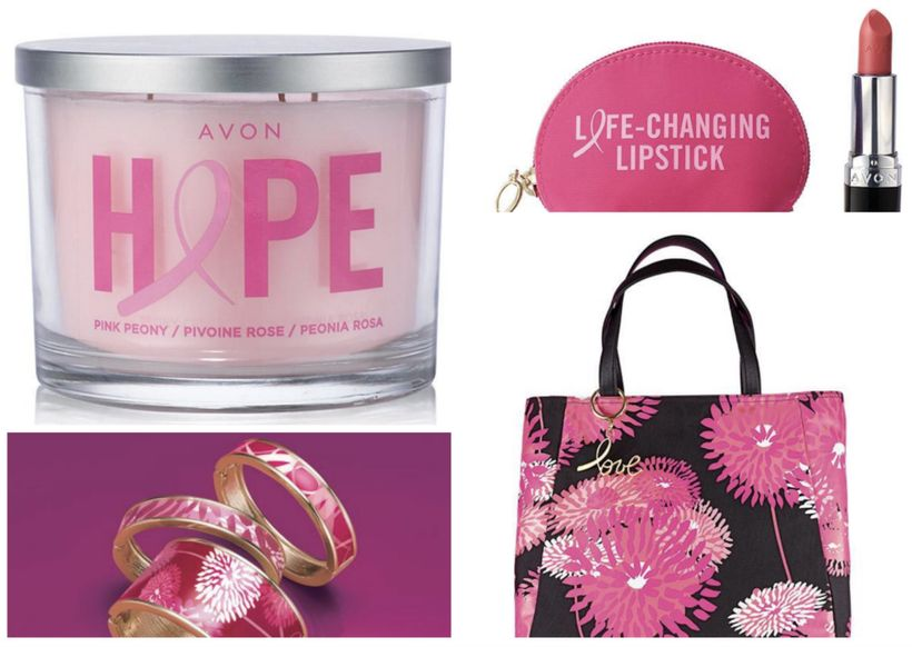 Pink Peony Candle, Pink Hope Iconic Lipstick Set, Pink Hope Patterned Medium Bangles and Pink Hope Oversized Floral Totebag f