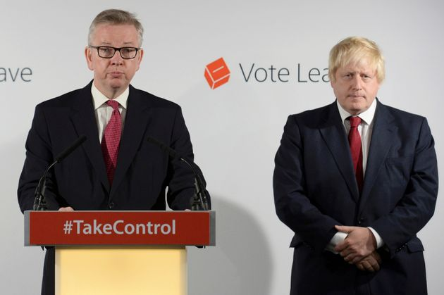 Michael Gove and Boris Johnson in the aftermath of the Brexit