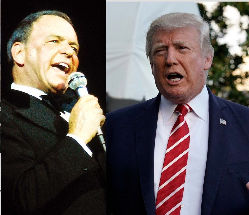 Frank Sinatra and Donald Trump