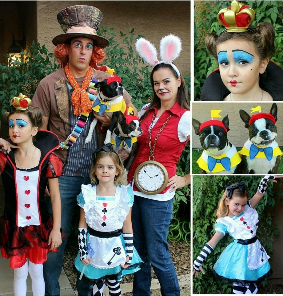 Alice In Wonderland Halloween Costume Family.65 Halloween Costumes For Families Who Love Dressing Up Together