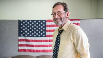BISHOPVILLE, SC - JUNE 19: Democratic congressional candidate Archie Parnell stands in the Lee County Democratic campaign offices June 19, 2017 in Bishopville, South Carolina. Voters will choose between Parnell and Republican candidate Ralph Norman tomorrow in a special election for South Carolina's 5th Congressional District House seat. (Photo by Sean Rayford/Getty Images)