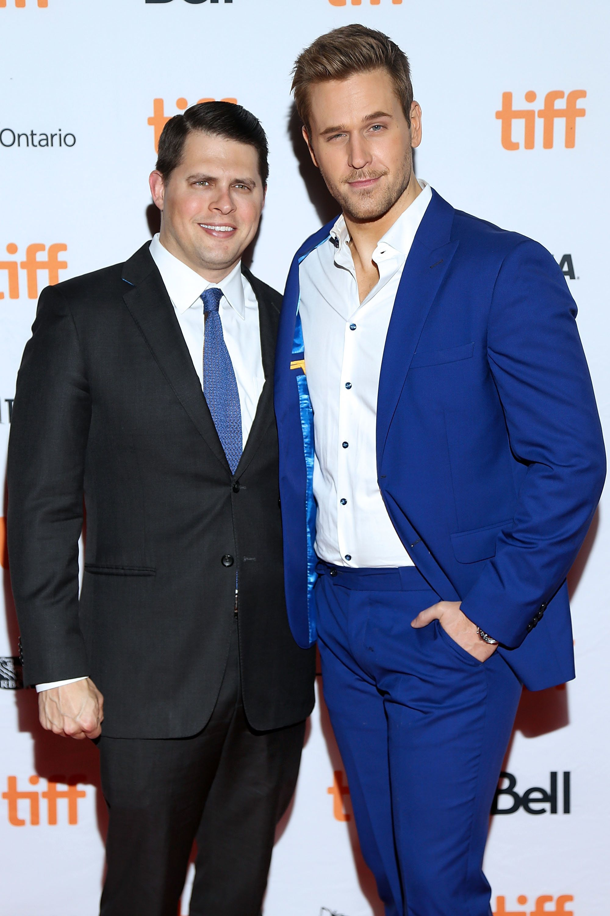 TORONTO, ON - SEPTEMBER 12:  Actor Dan Amboyer (R) and Eric Berger attend the 'Brawl in Cell Block 99' premiere during the 2017 Toronto International Film Festival at Ryerson Theatre on September 12, 2017 in Toronto, Canada.  (Photo by Isaiah Trickey/FilmMagic)