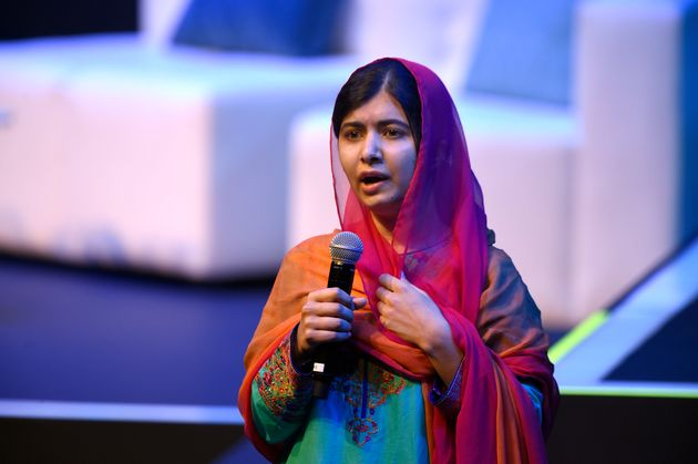 Nobel Peace Prize laureate Malala Yousafzai speaks in Mexico City on Sept. 1,