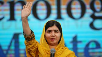 Nobel laureate Malala Yousafzai waves as she arrives for an event with students at Tecnologico de Monterrey University in Mexico City, Mexico, August 31, 2017. REUTERS/ Edgard Garrido