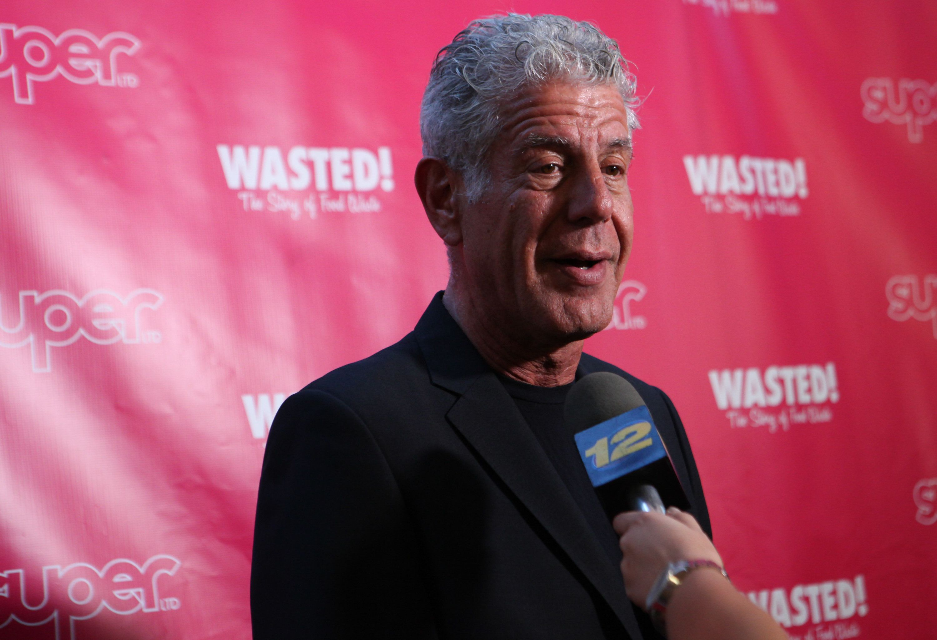 NEW YORK, NY - OCTOBER 05:  Anthony Bourdain attends 'Wasted! The Story Of Food Waste' New York Premiere at Alamo Drafthouse Cinema on October 5, 2017 in the Brooklyn borough of New York City.  (Photo by Steve Zak Photography/Getty Images)