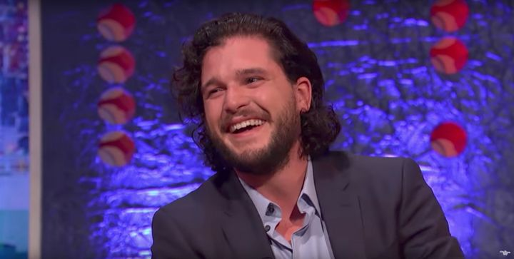 Someone thought it was funny: Kit Harington,who recently proposed to his former co-star,said he received a stern