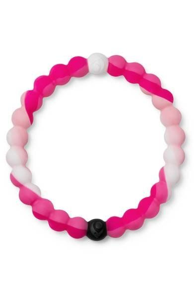 This limited edition pink bracelet by Lokai is a symbol of hope, support and solidarity for breast cancer. With every Pink Lo