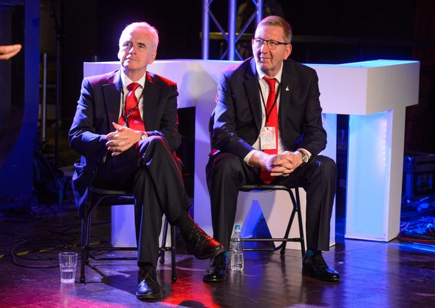 John McDonnell and Unite chief Len McCluskey at The World Transformed in