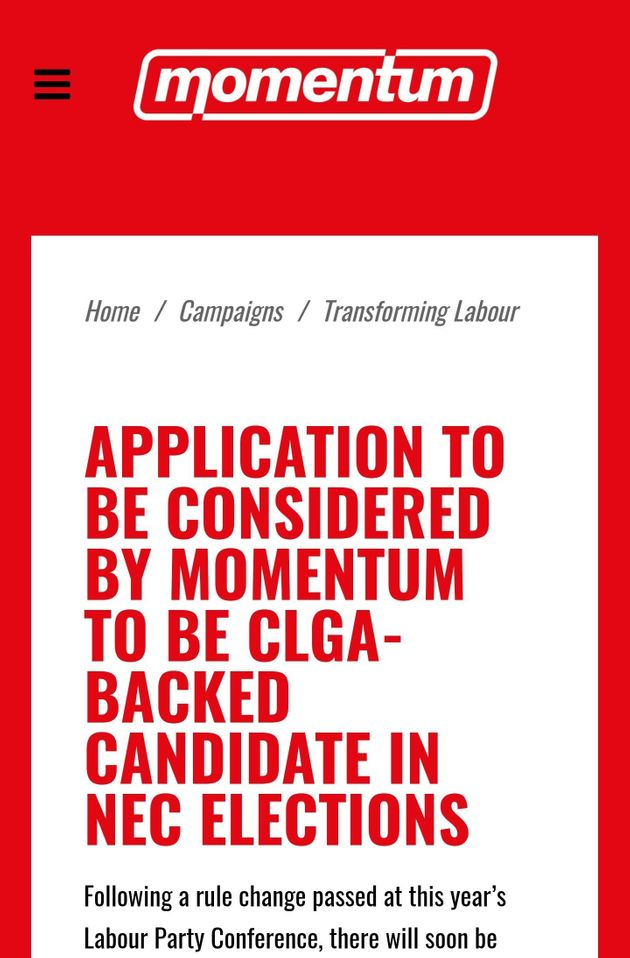 The email to Momentum