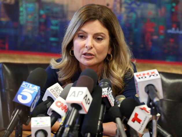 Lisa Bloom is shown during a press conference in California last