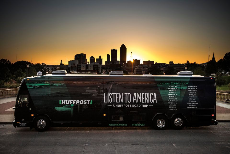 "HuffPost visits Des Moines on Oct. 9, as part of ""Listen To America: A HuffPost Road Trip."""