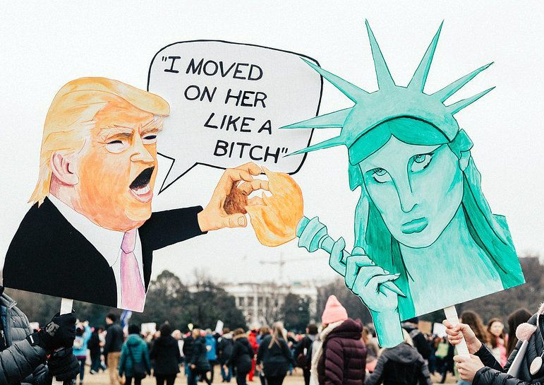 Seen at the Women's March in Washington, D.C. on Jan. 21, 2017.