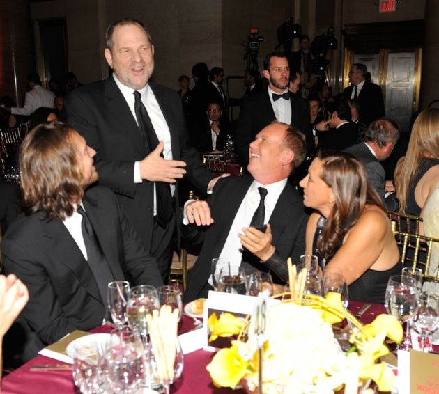 Donna Karan, right, pictured with Harvey Weinstein, second from left, at the amfAR New York Gala in