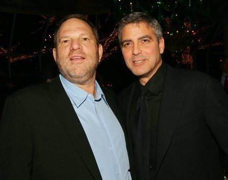Weinstein and Clooney, pictured in 2005, collaborated on Clooney's directorial debut,