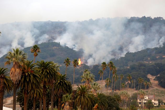 View of the fires in the Santa Rosa and Napa Valleys on Oct. 10,