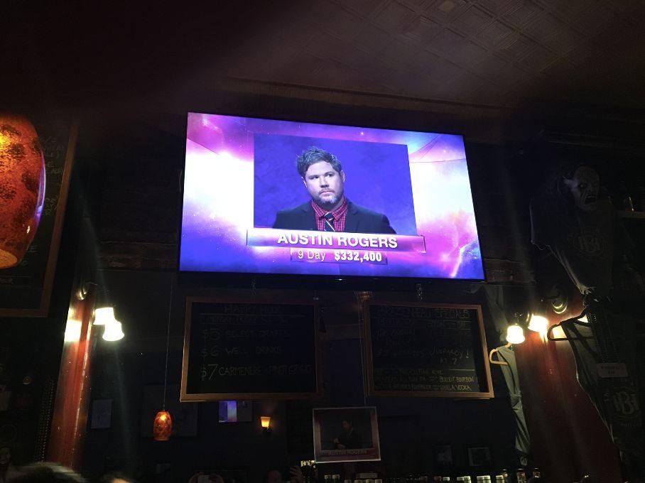 Watching Austin Rogers in Brooklyn's The Brazen Head bar.
