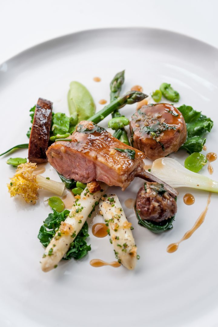 A dish atLe Manoir Aux Quat'Saisons.