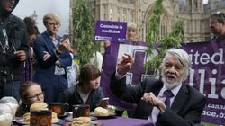 Legalise Cannabis Campaigners Spark Up Outside