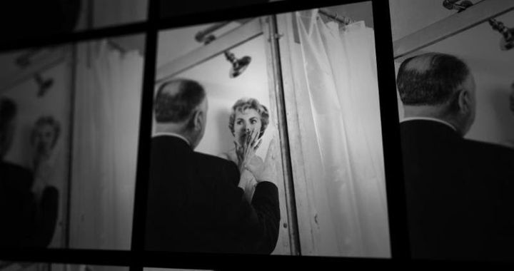 "Alfred Hitchcock directs Janet Leigh in ""Psycho."""
