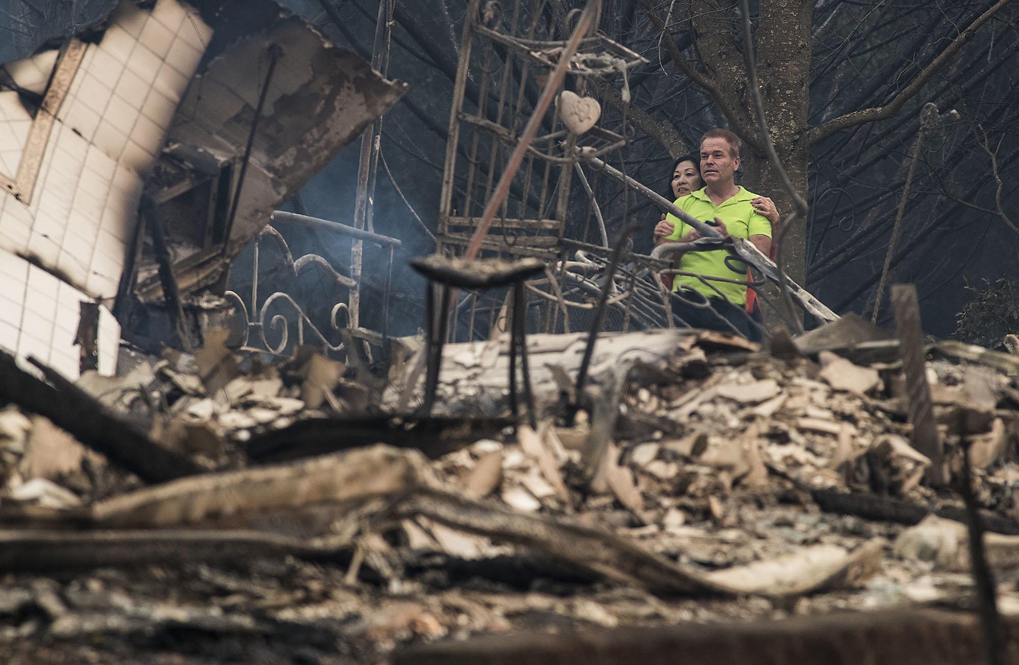 As imagens que capturam a destruição deixada pelos incêndios na