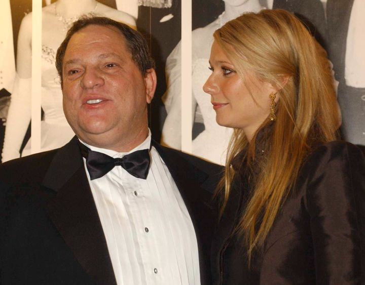 Harvey Weinstein and Gwyneth Paltrow in 2002.