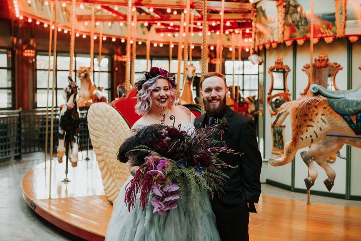 Teresa and Peter married at Bear Mountain Merry-Go-Round Pavilion.