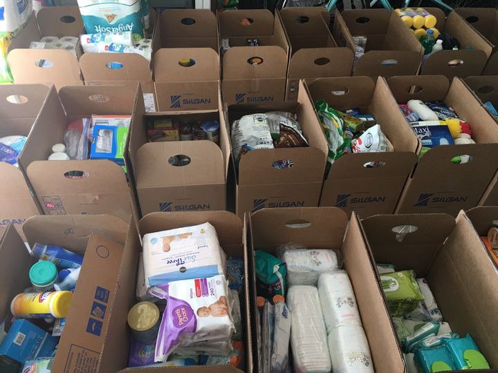 MM50 Relief Project also gathers and distributes other supplies, including paper towels, feminine hygiene products and more.