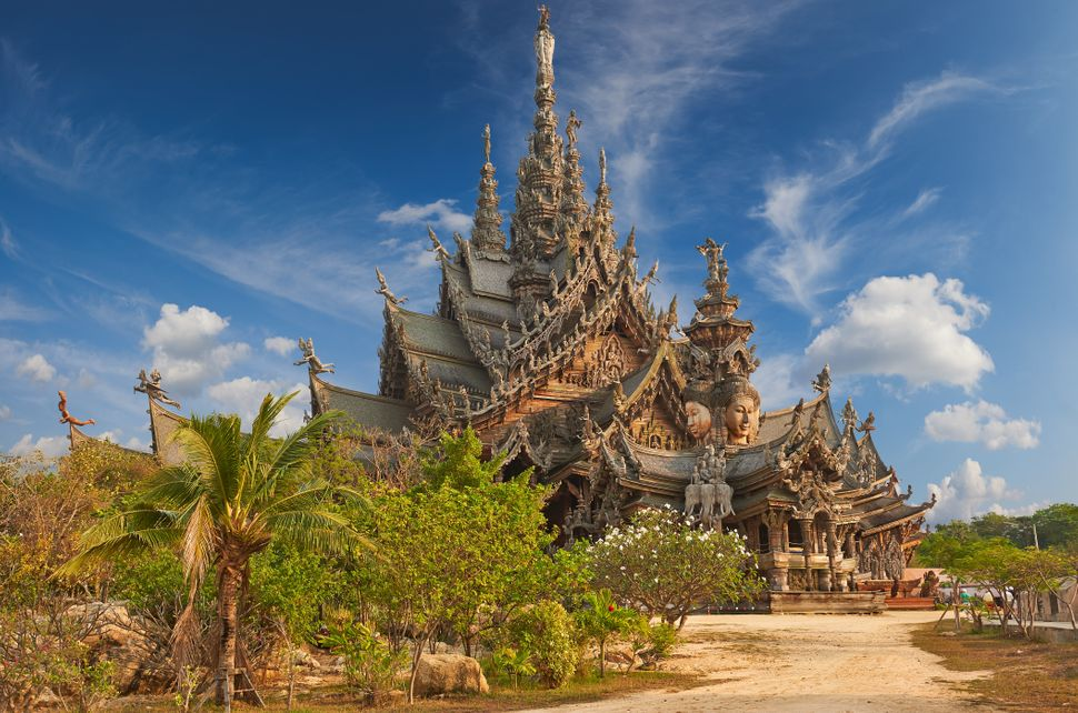 "Thailand's Sanctuary of Truth is an <a href=""https://www.renown-travel.com/daytripspattaya/sanctuaryoftruth.html"" target=""_bl"