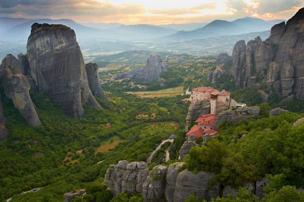 "The Roussanou Monastery is one of <a href=""http://www.cnn.com/travel/article/meteora-greece/index.html"" target=""_blank"">six p"