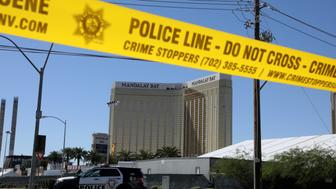 The site of the Route 91 music festival mass shooting is seen outside the Mandalay Bay Resort and Casino in Las Vegas, Nevada, U.S. October 2, 2017. REUTERS/Lucy Nicholson     TPX IMAGES OF THE DAY